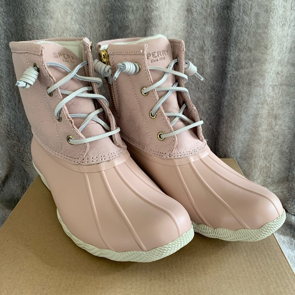Sperry Saltwater Duck Boots Blush Pink